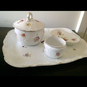 Sweet Vanity Tray Vintage Pansies